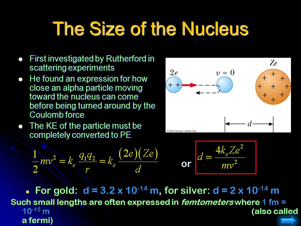 The Size of the Nucleus or