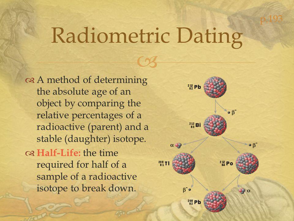 p.193 Radiometric Dating.