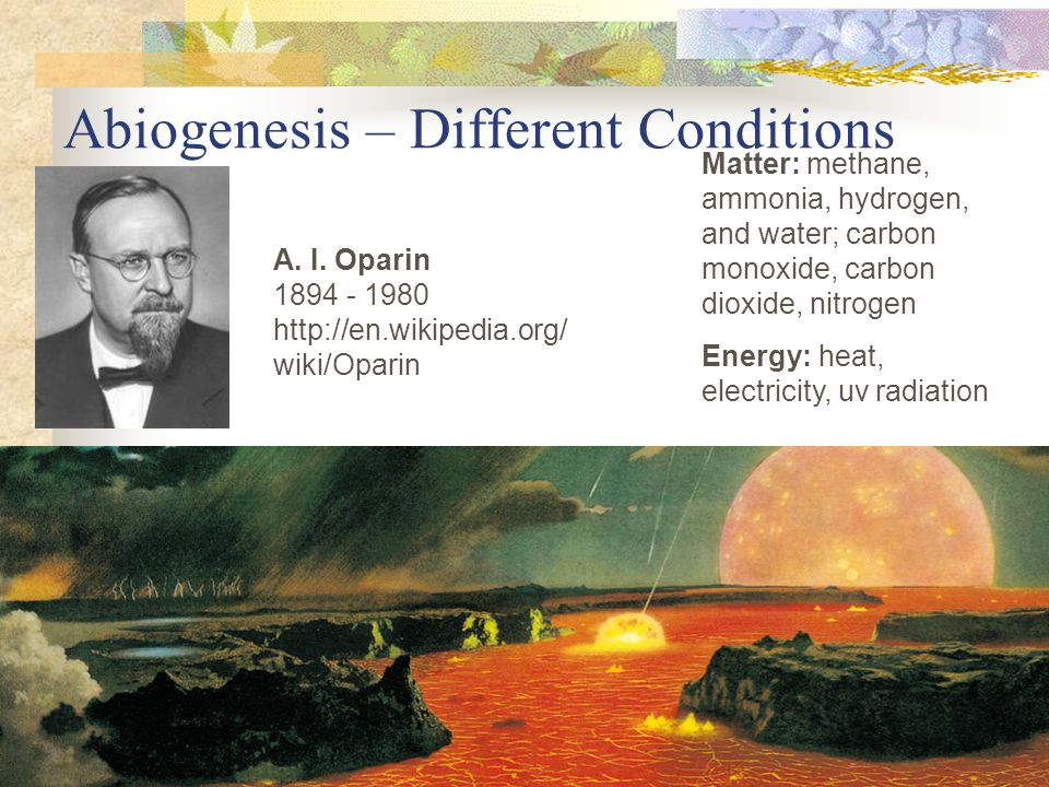 Abiogenesis – Different Conditions