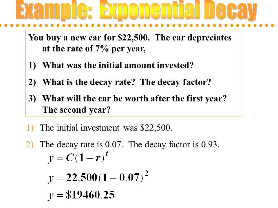 Example: Exponential Decay