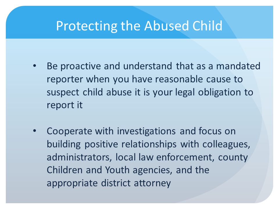 Protecting the Abused Child