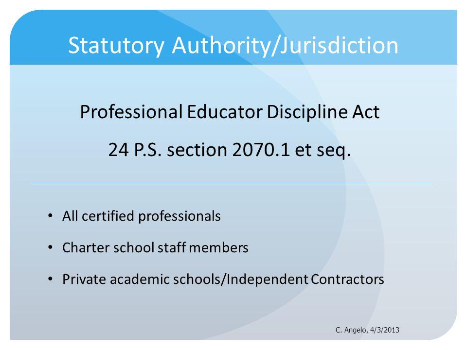 Statutory Authority/Jurisdiction