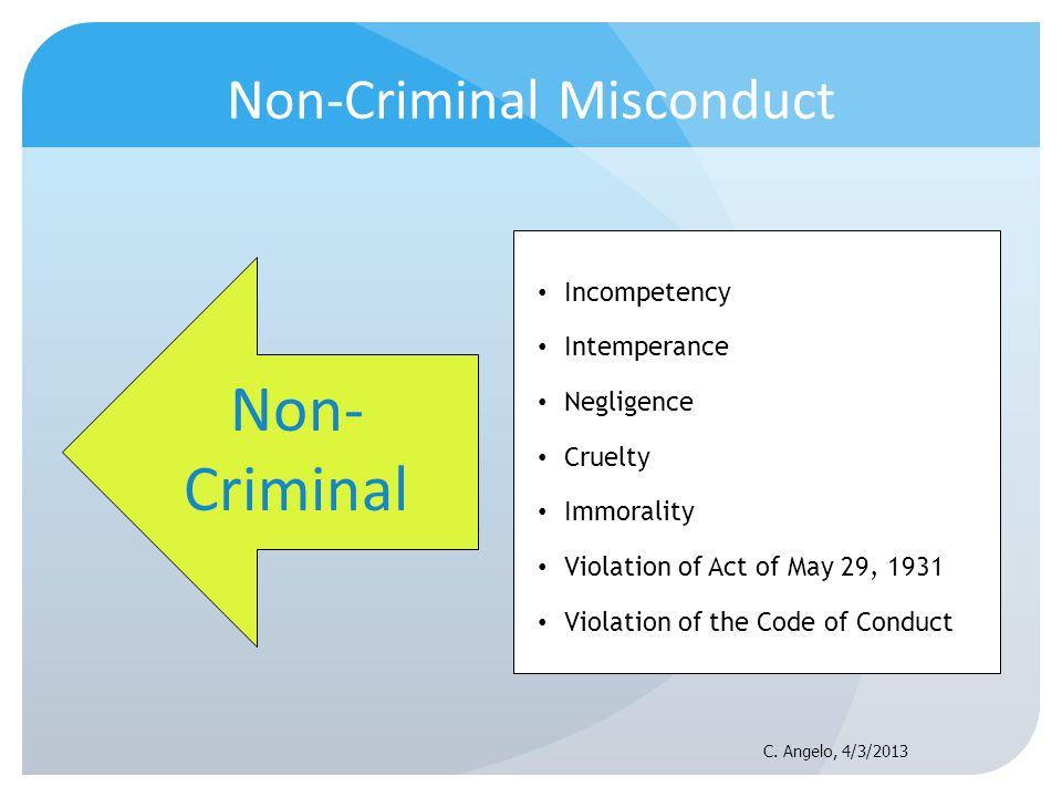 Non-Criminal Misconduct