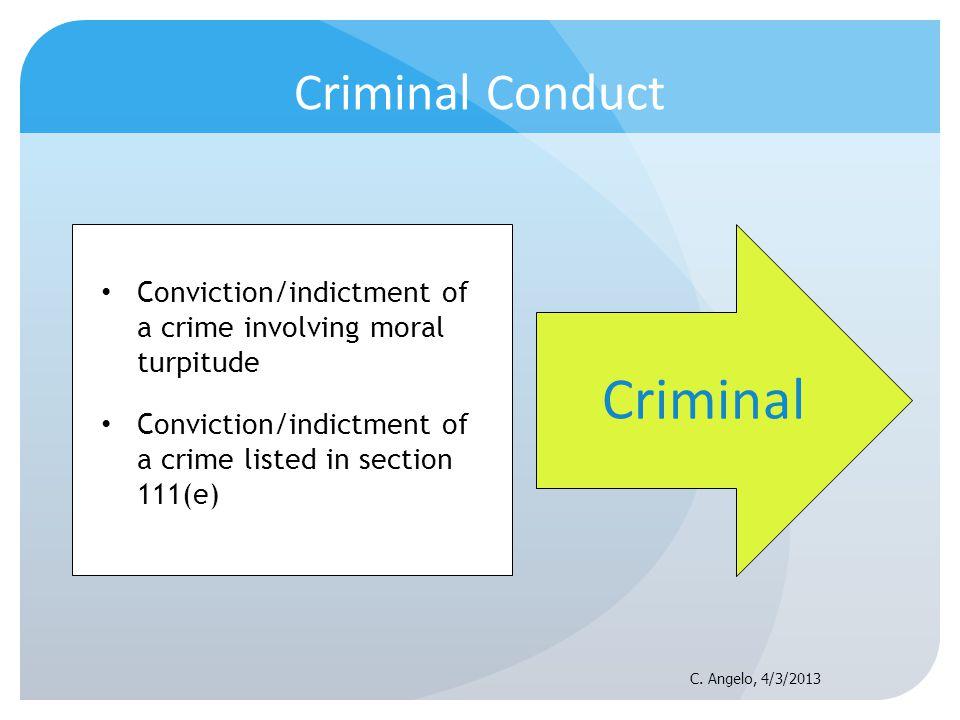Criminal Criminal Conduct