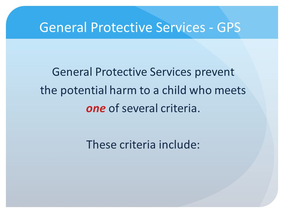 General Protective Services - GPS