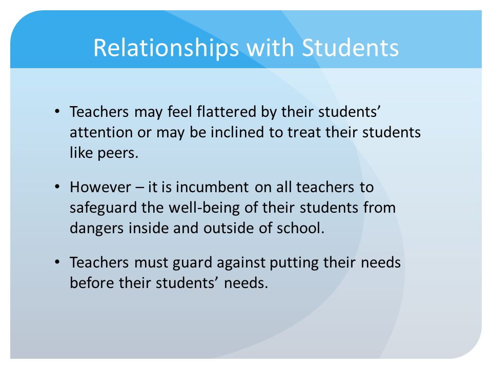 Relationships with Students