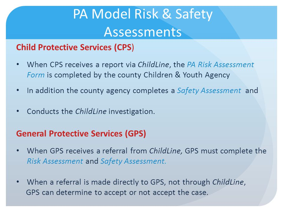 PA Model Risk & Safety Assessments