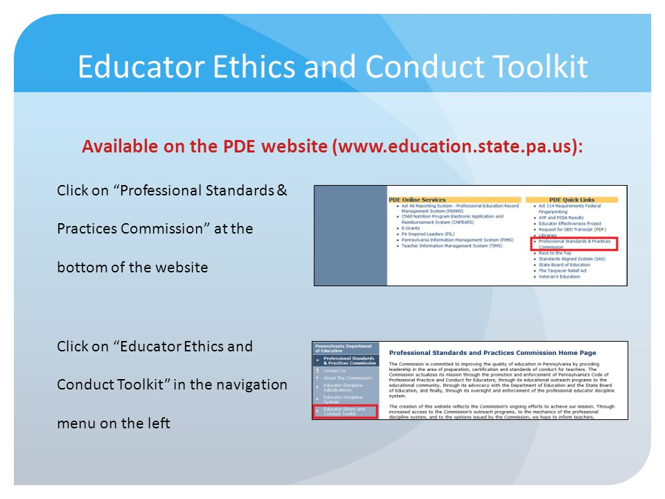 Educator Ethics and Conduct Toolkit