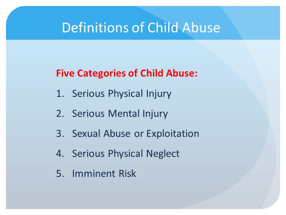Legal definition of adult sexual abuse