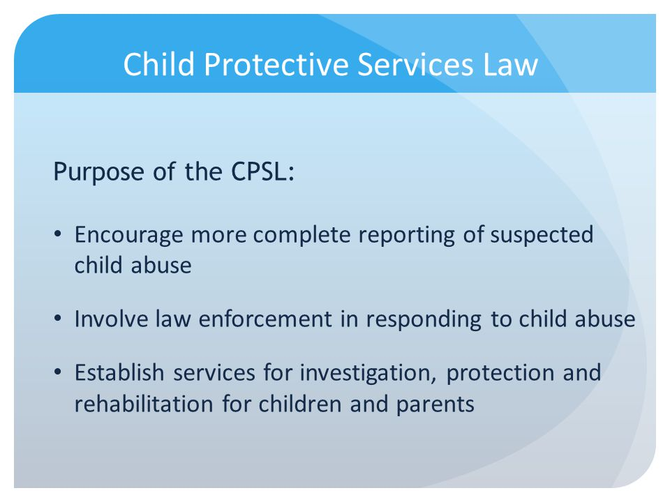 Child Protective Services Law