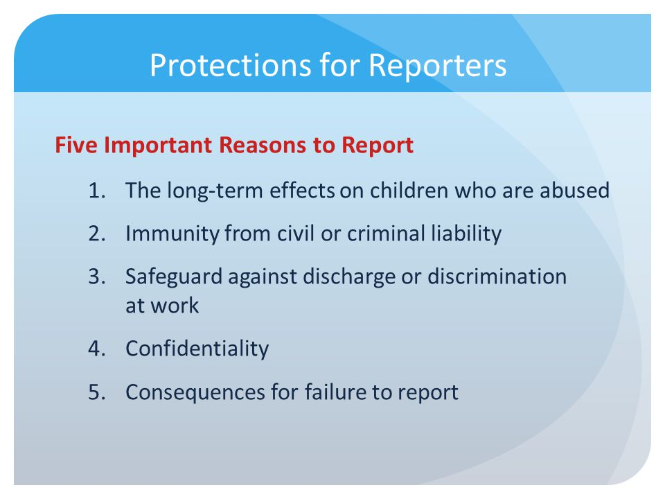 Protections for Reporters
