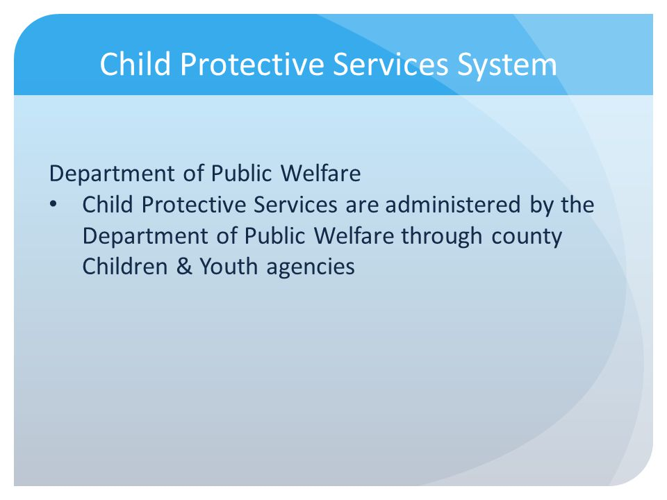 Child Protective Services System