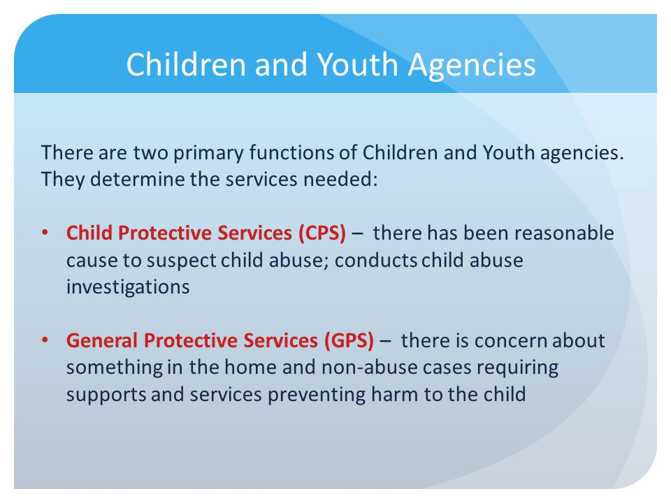 Children and Youth Agencies