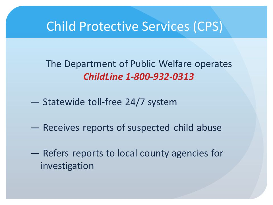 Child Protective Services (CPS)