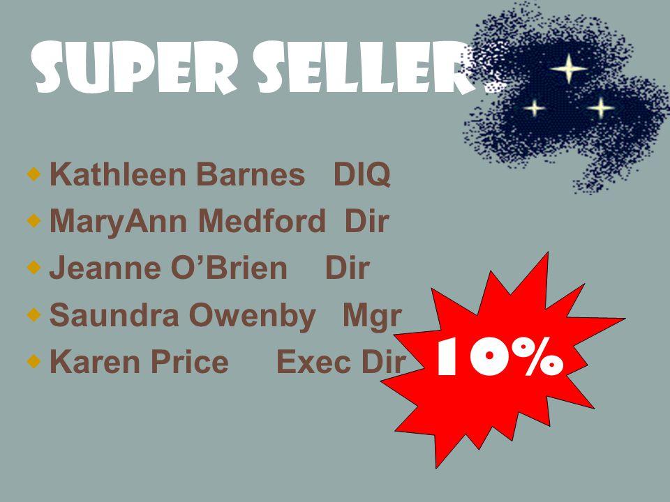 Super Sellers 10% Kathleen Barnes DIQ MaryAnn Medford Dir