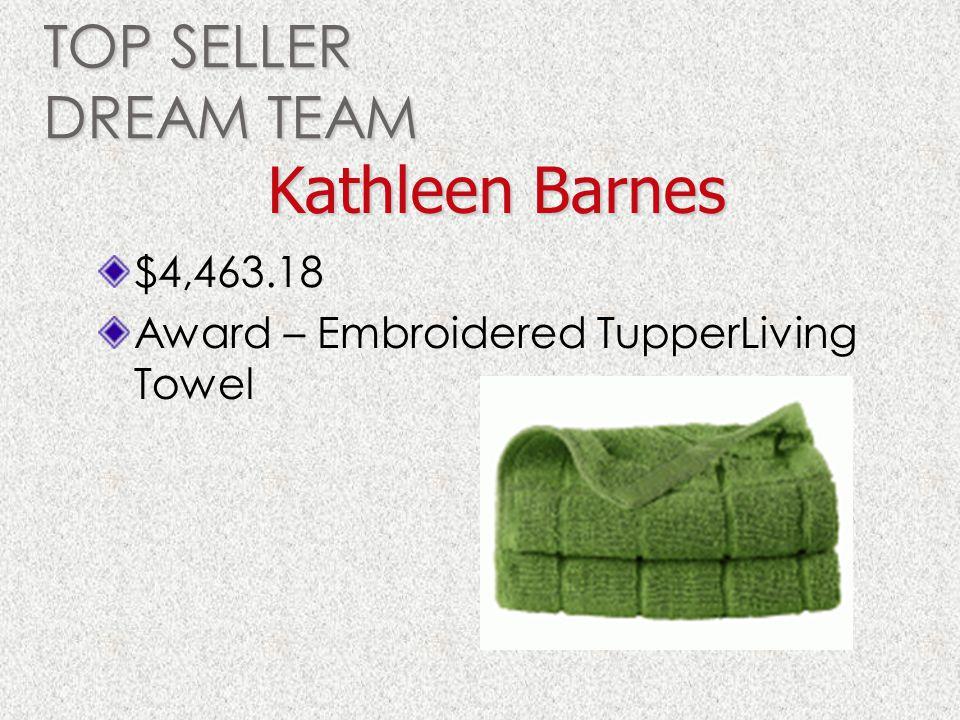 Kathleen Barnes TOP SELLER DREAM TEAM $4,463.18
