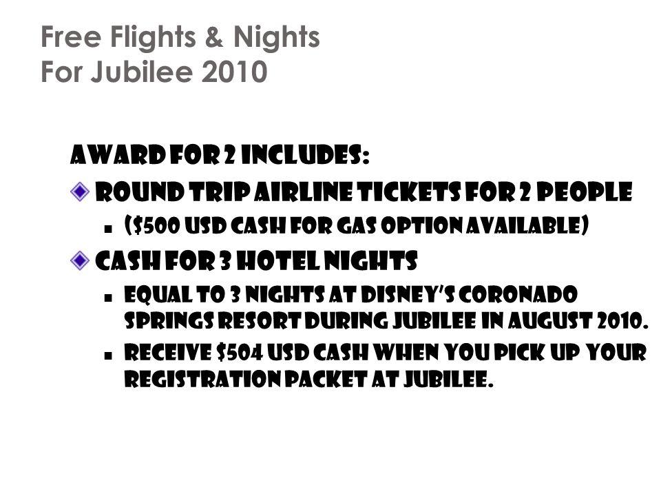 Free Flights & Nights For Jubilee 2010