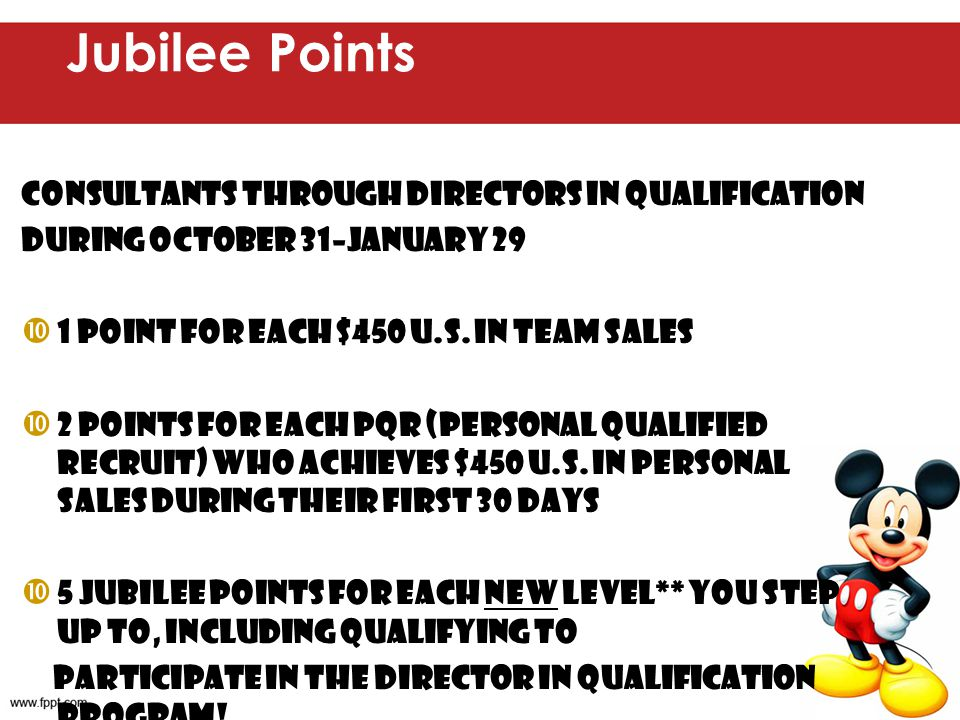 Jubilee Points Consultants through Directors in Qualification