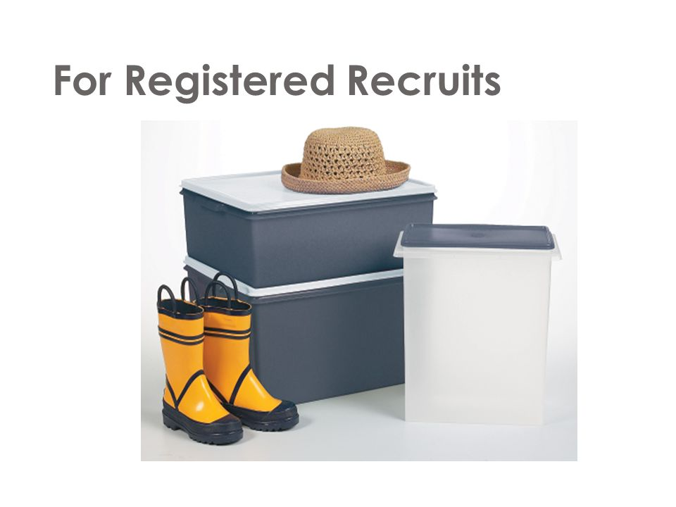 For Registered Recruits