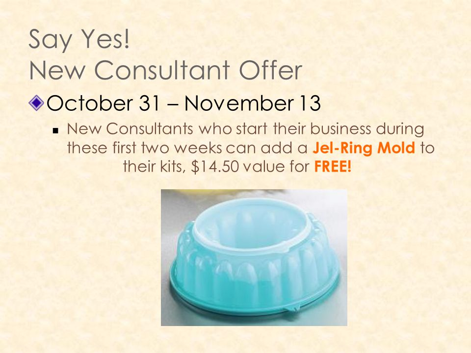 Say Yes! New Consultant Offer