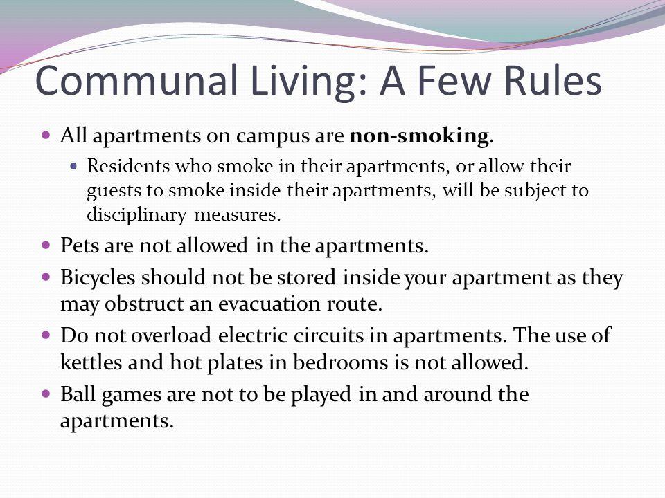 Communal Living: A Few Rules