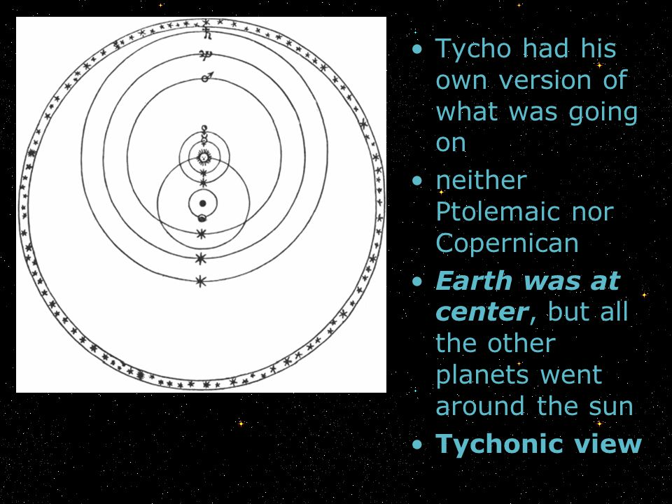 Tycho had his own version of what was going on