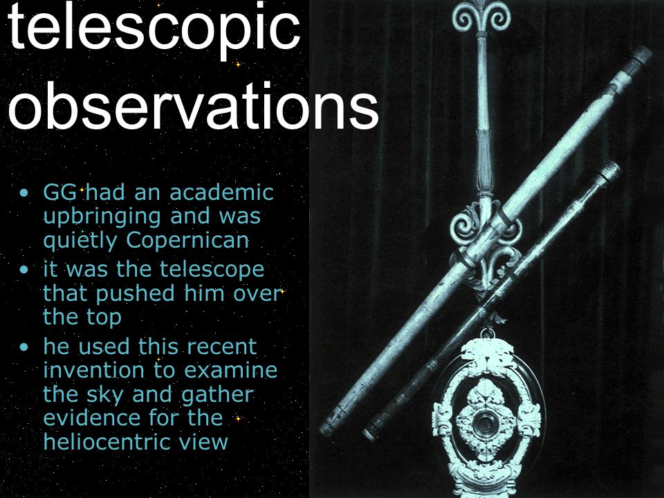 telescopic observations