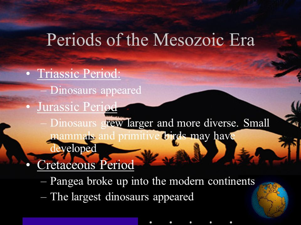 Periods of the Mesozoic Era