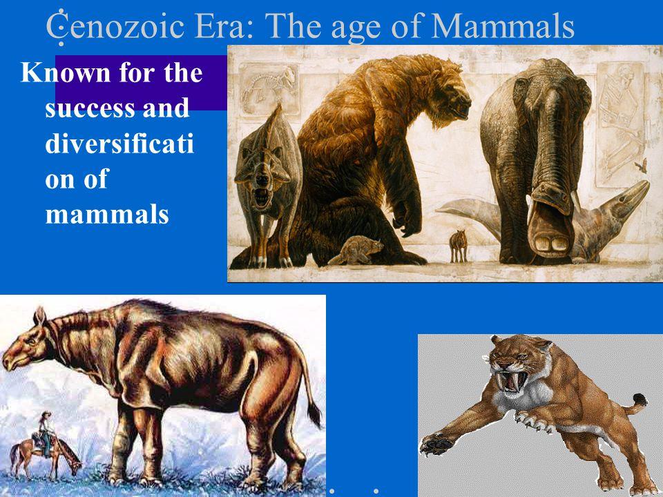 Cenozoic Era: The age of Mammals