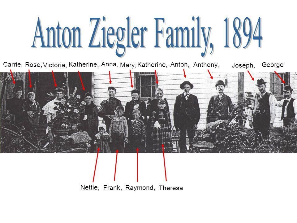 Anton Ziegler Family, 1894 Carrie, Rose, Victoria, Katherine, Anna,