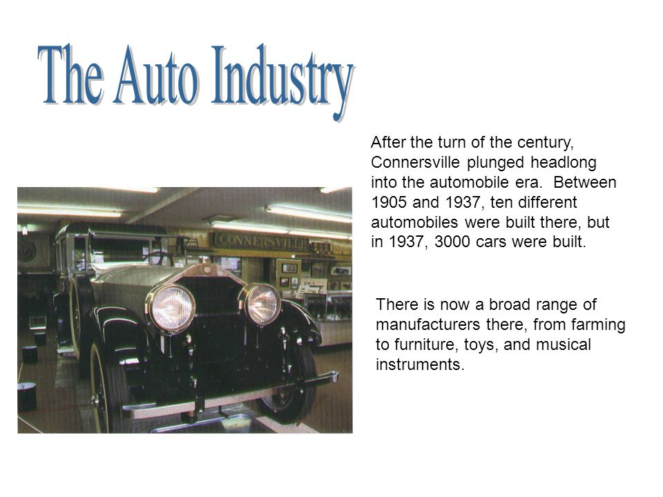The Auto Industry