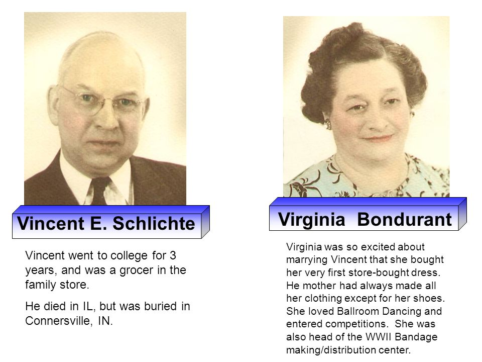 Virginia Bondurant Vincent E. Schlichte