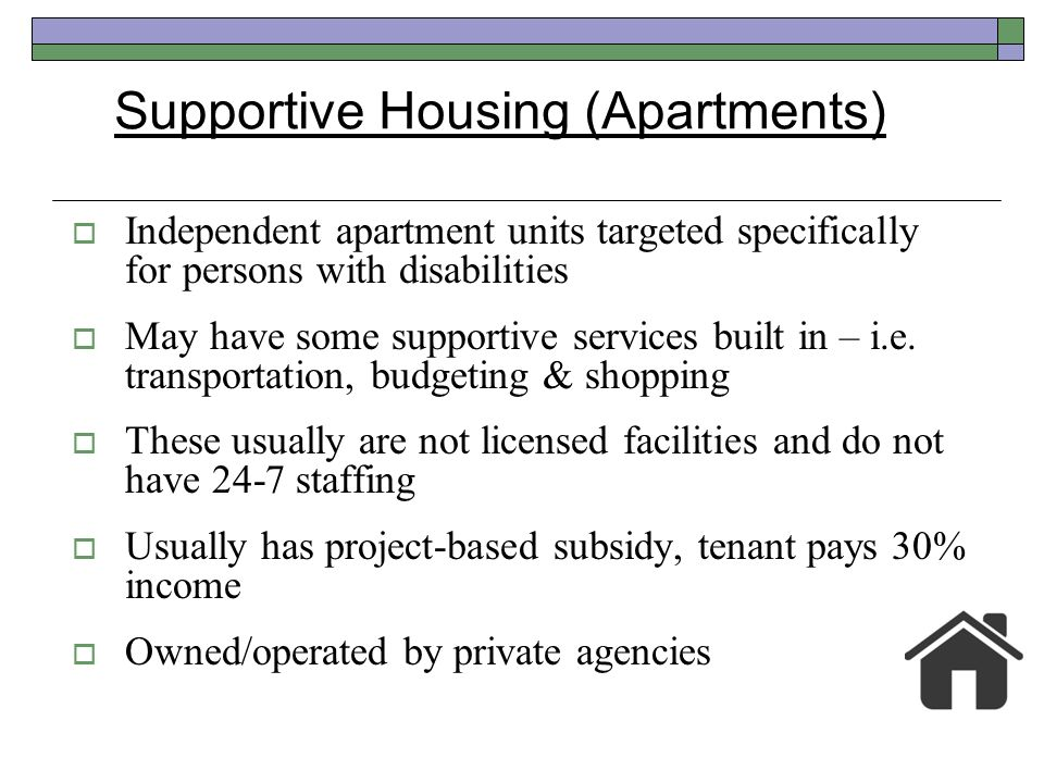 Supportive Housing (Apartments)
