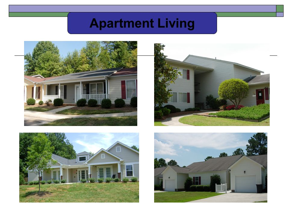 Apartment Living Charlotte, Snow Hill (Greene Co.), Burlington (Alamance)