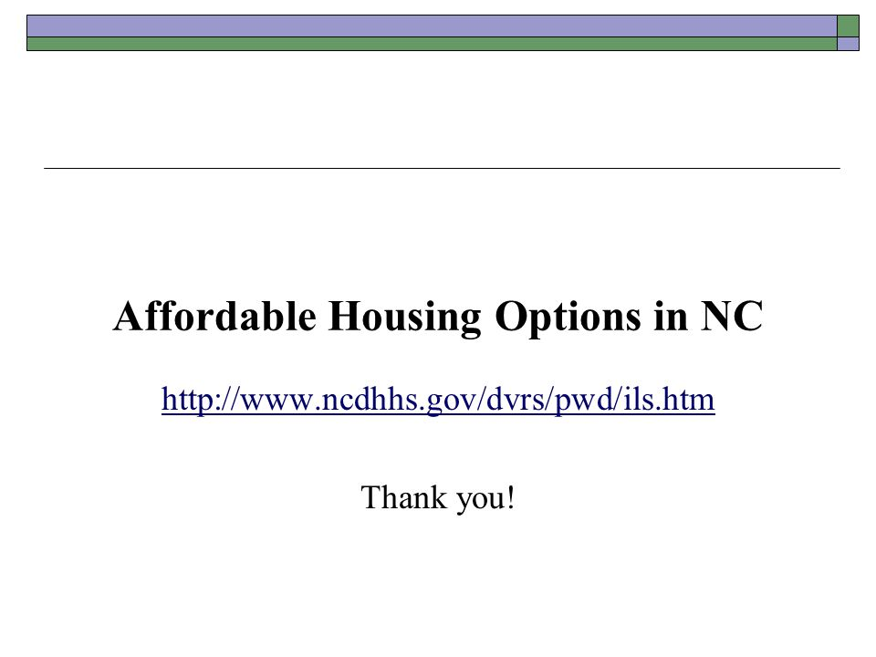 Affordable Housing Options in NC