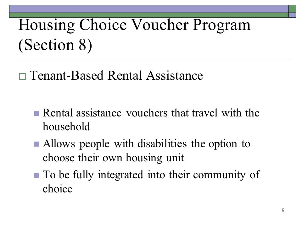 Housing Choice Voucher Program (Section 8)