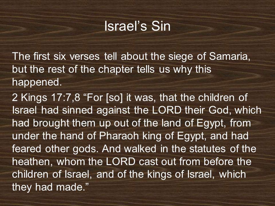 Israel's Sin