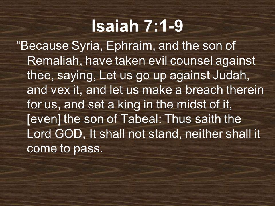 Isaiah 7:1-9