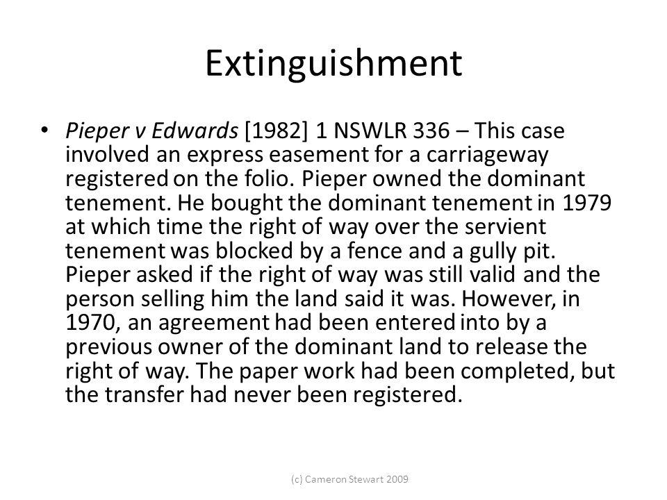 Extinguishment