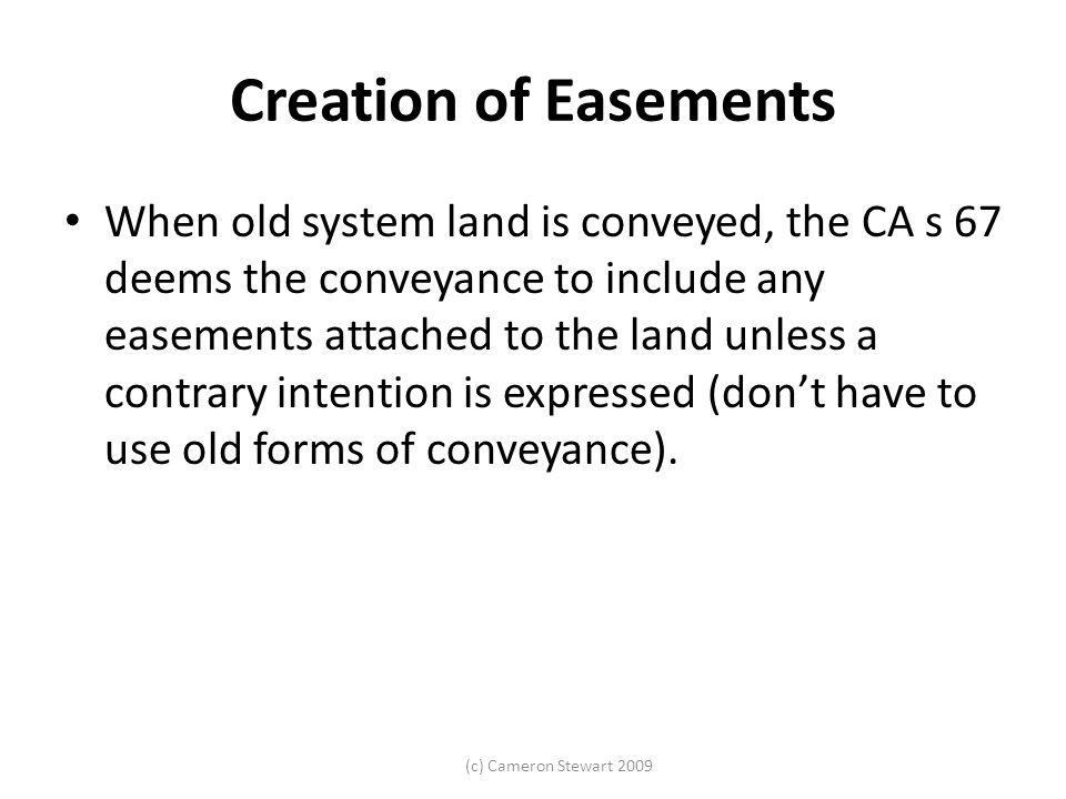 Creation of Easements