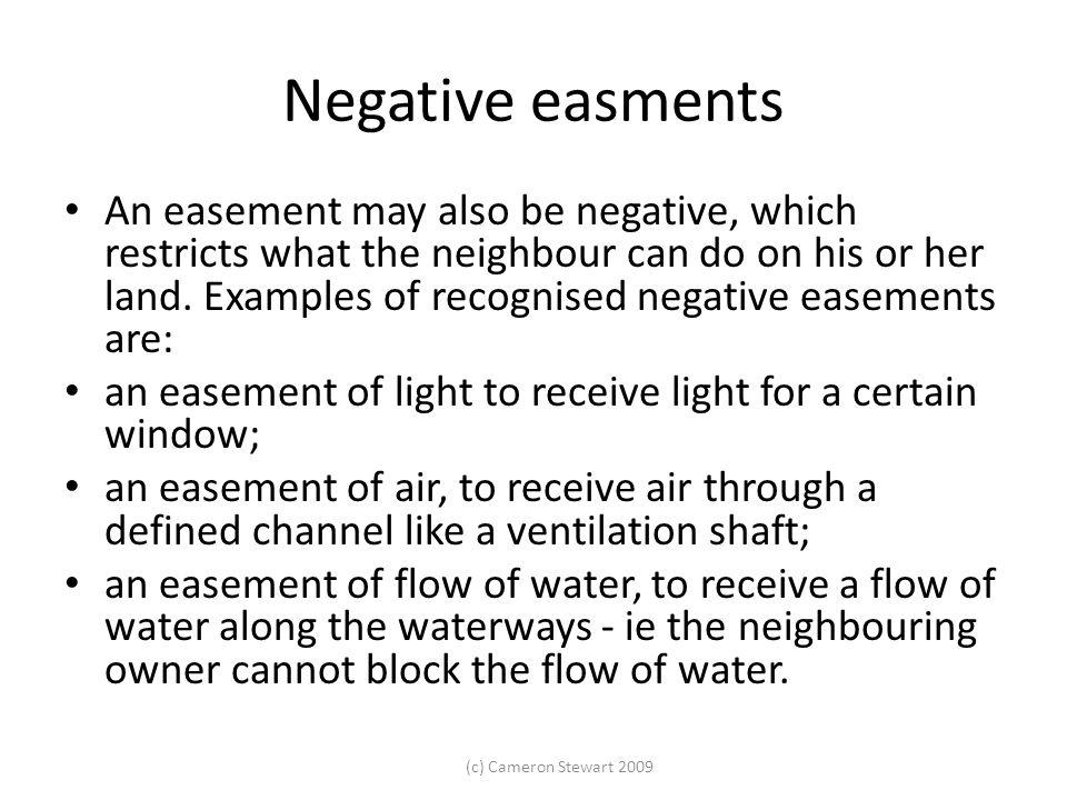 Negative easments
