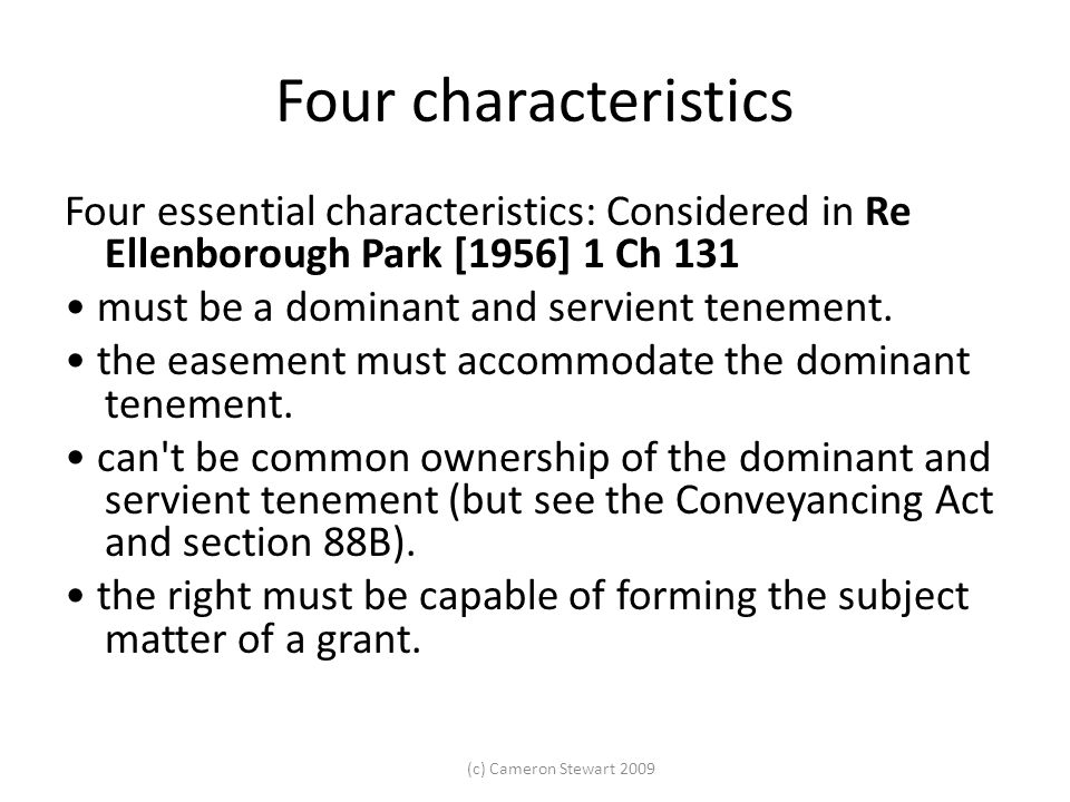 Four characteristics