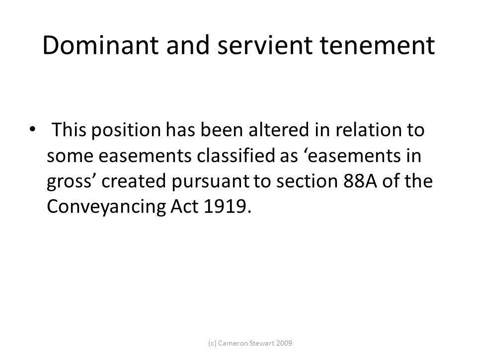 Dominant and servient tenement