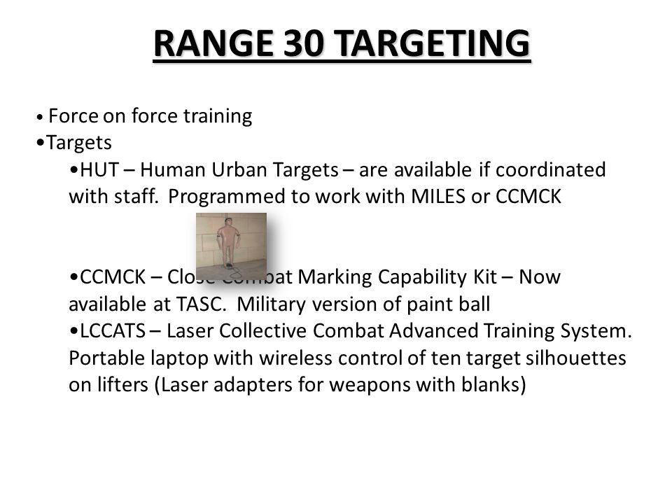 RANGE 30 TARGETING Targets
