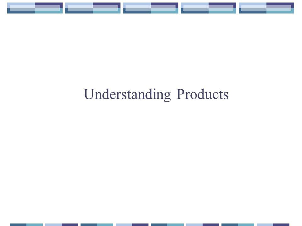 Understanding Products