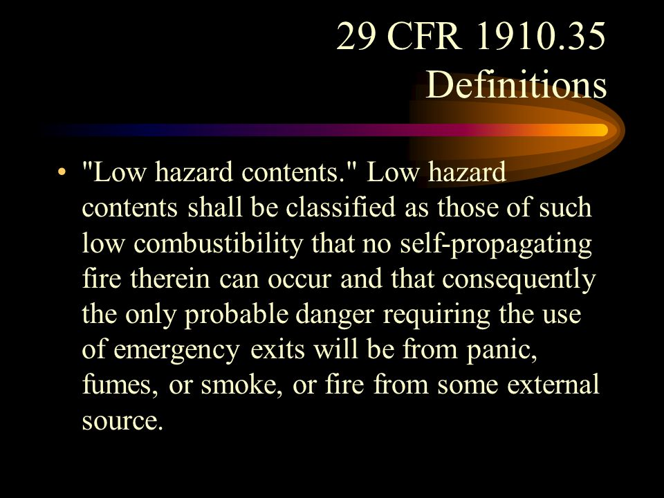 29 CFR 1910.35 Definitions