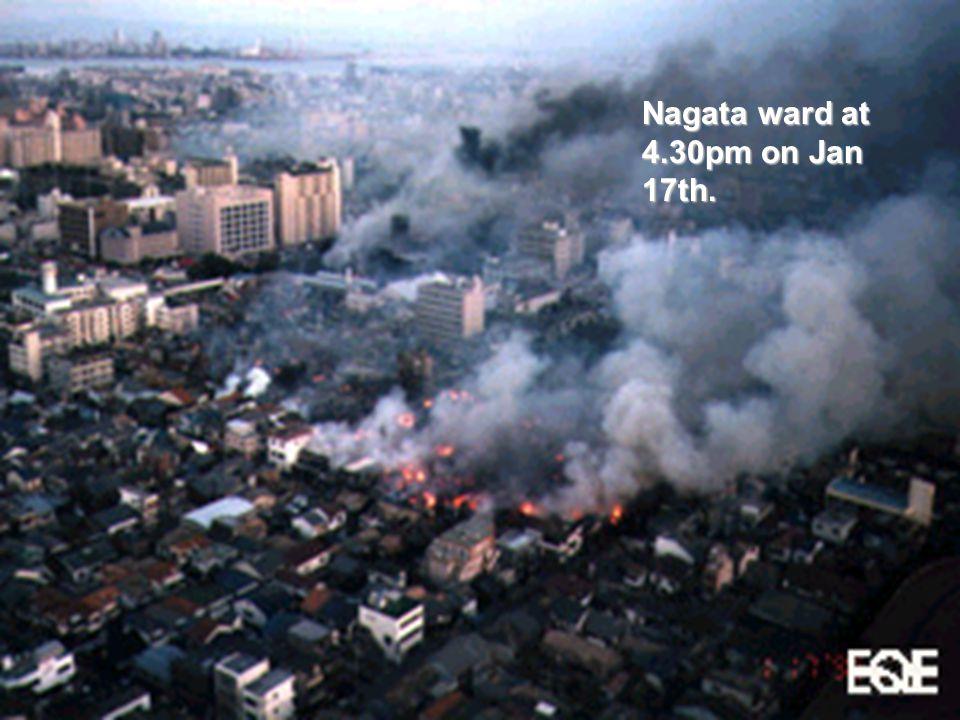 Nagata ward at 4.30pm on Jan 17th.