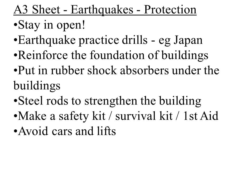 A3 Sheet - Earthquakes - Protection