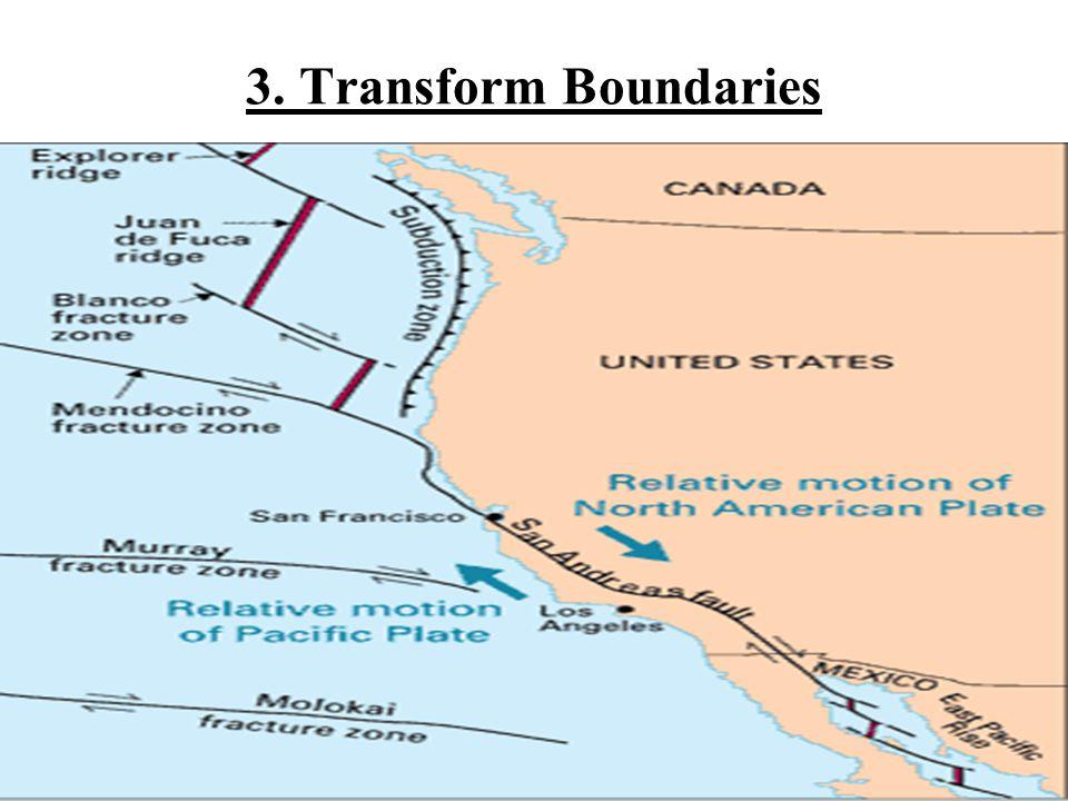 3. Transform Boundaries