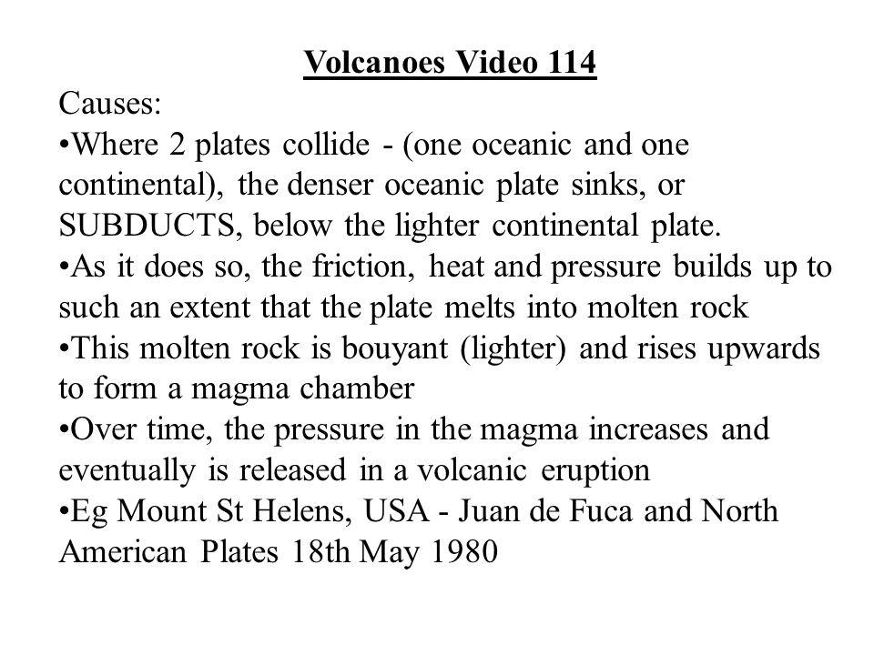 Volcanoes Video 114 Causes: